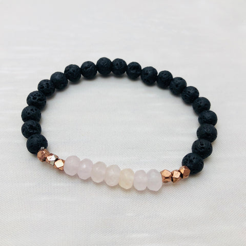 Small Lava & Rose Quartz