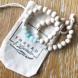 Matte Blue Amazonite & Wood