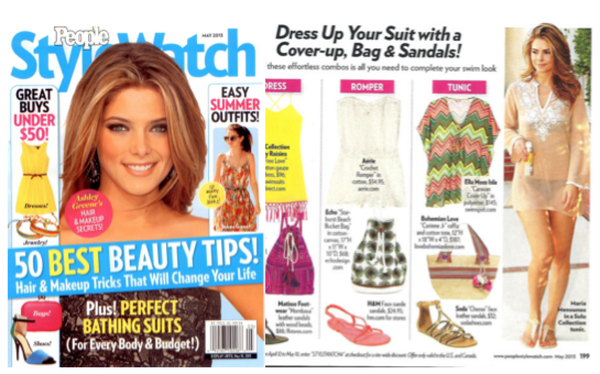 Maria Menounos Wears Sulu Collection in May 2013 People Style Watch