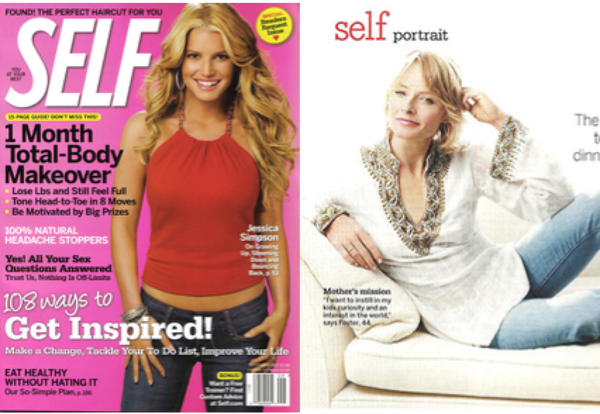 Jodie Foster Wears Sulu Collection in SELF Magazine