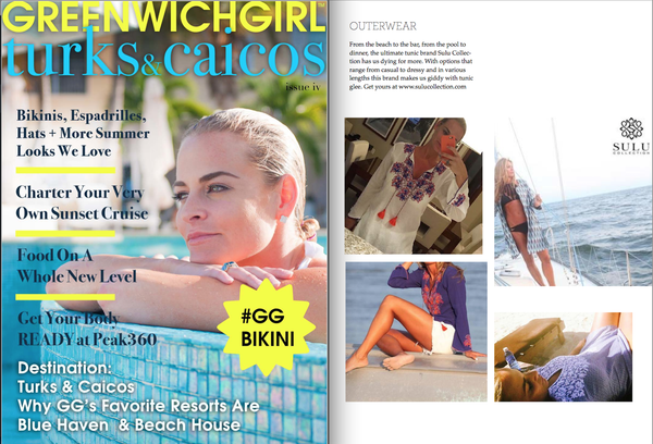 Sulu Collection featured in Greenwich Girl Magazine Summer Edition