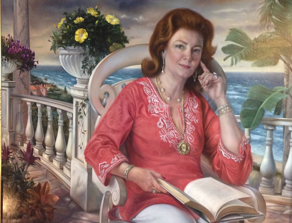 Portrait of Kay Rooney painted by David Bowers