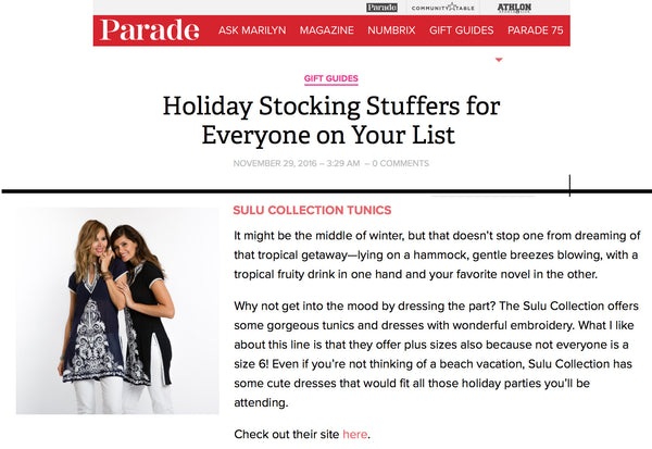 Parade.com Holiday Stocking Stuffers 2016