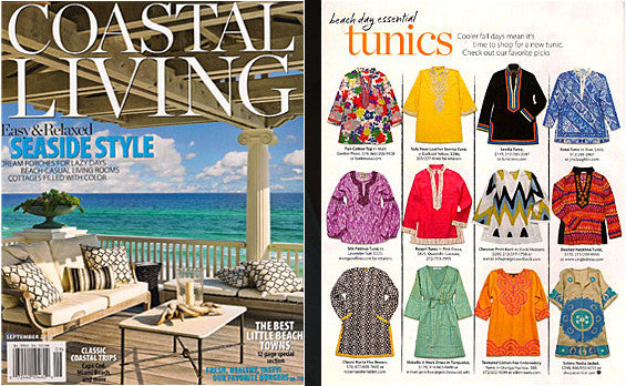 Sulu Collection featured as a 'Beach Day Essential' in September 2010 issue of Coastal Living Magazine