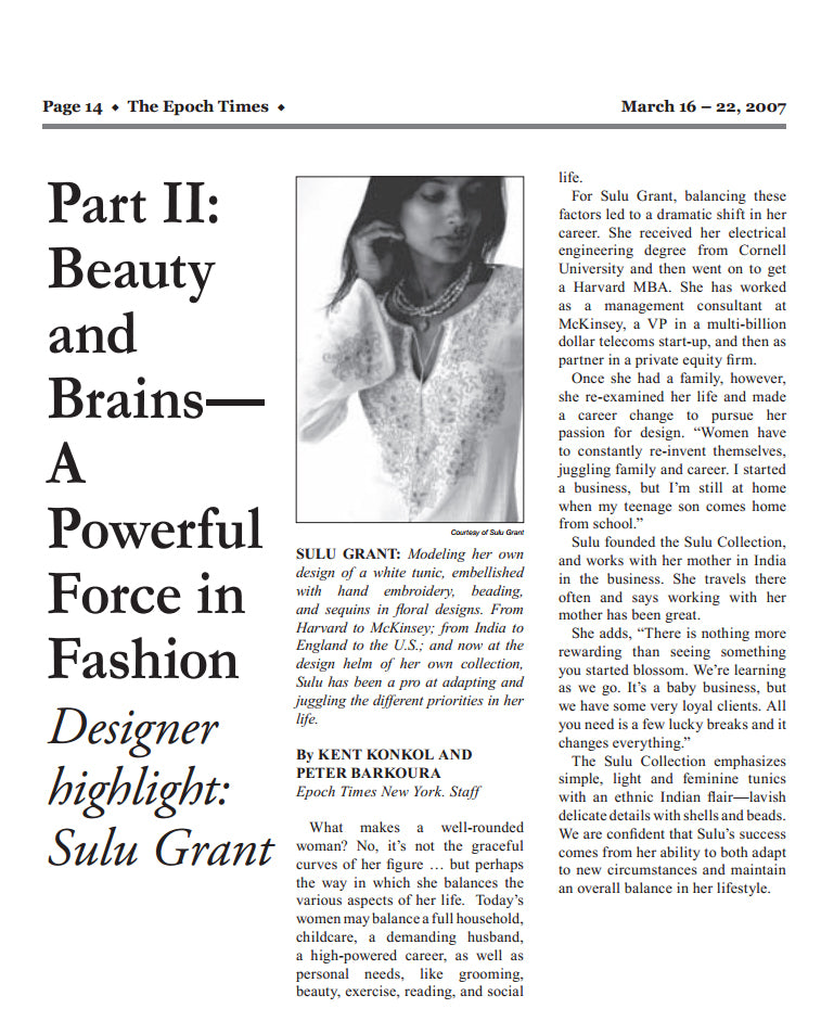 ab1960b20 Beauty and Brains - A Powerful Force in Fashion: Designer Sulu Grant ...