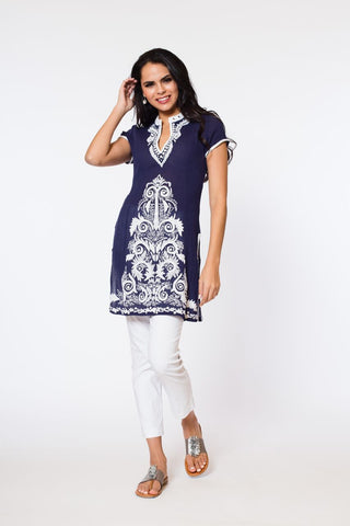 Roopa Long Tunic (cap sleeve)