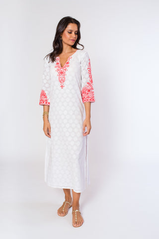 Alessandra Maxi Dress (lined) (3/4 sleeve)