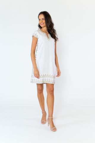 Isla Linen Dress (lined)(cap sleeve)