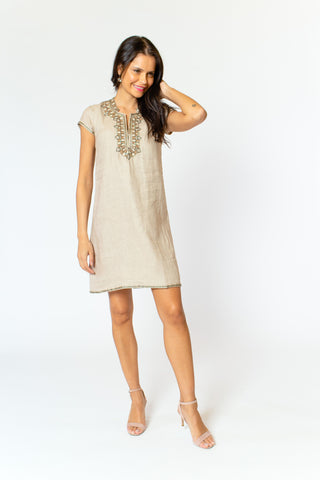Iris Linen Dress (cap sleeve)