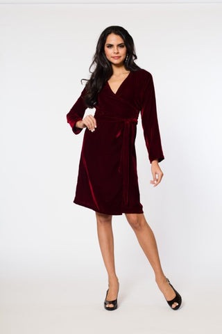 Nicolette Velvet Wrap Dress