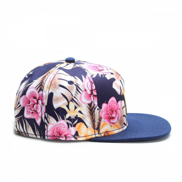 Snapback HAWAIIAN FLOWERS - Purple Drank Shop - 1
