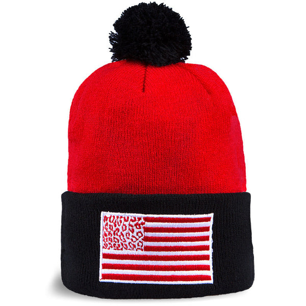 Beanie CHEETAH FLAG (Rojo/Negro) - Purple Drank Shop