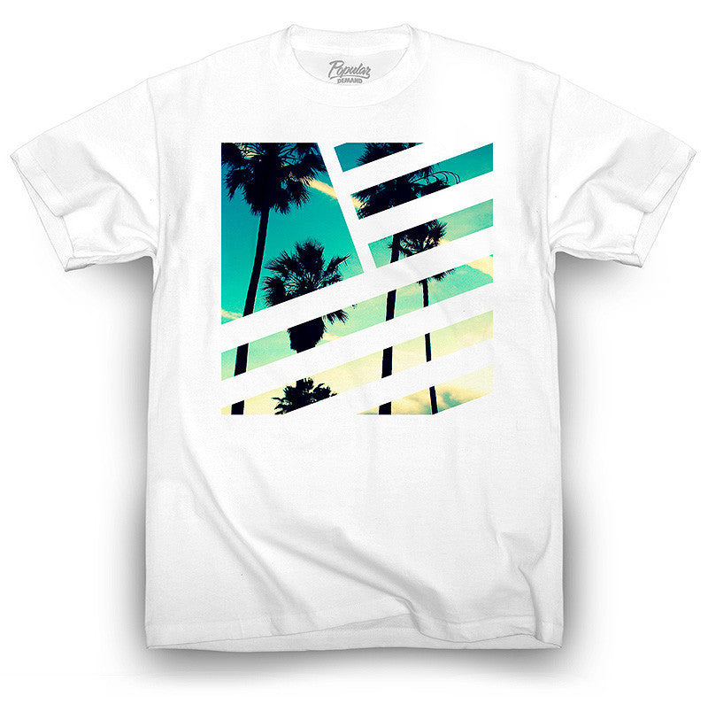 Camiseta PALMS SQUARE FLAG (Blanco) - Purple Drank Shop