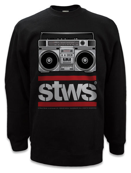 Crewneck BOOMBOX Negro - Purple Drank Shop
