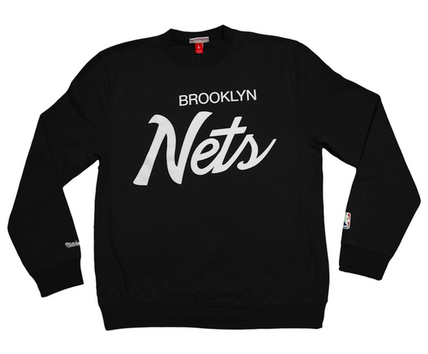Crewneck BROOKLYN NETS Script (Negro) - Purple Drank Shop