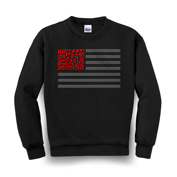 Crewneck CHEETAH FLAG (Negro) - Purple Drank Shop