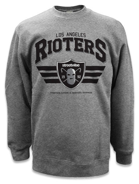 Crewneck RIOTERS 2.0 Gris - Purple Drank Shop
