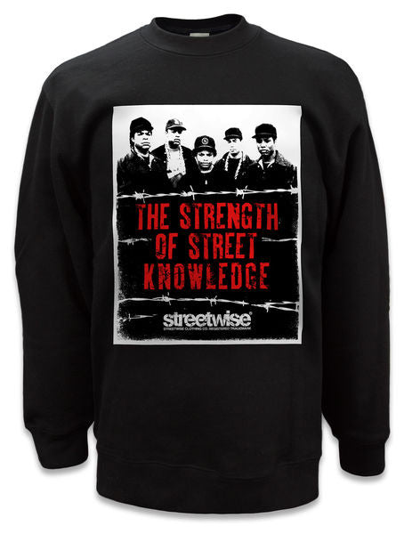 Crewneck STREET KNOWLEDGE - Purple Drank Shop
