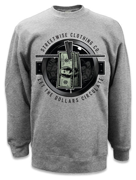 Crewneck WASH MONEY - Purple Drank Shop