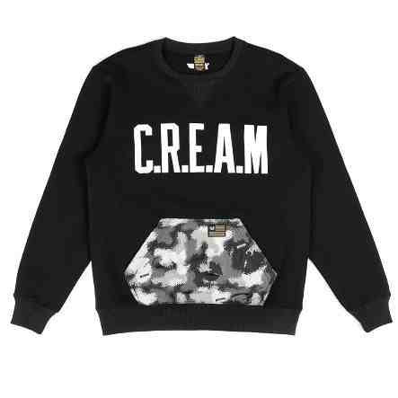 Crewneck CREAM PULLOVER (Negro) - Purple Drank Shop - 1
