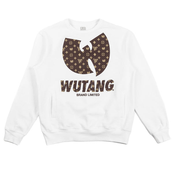 Crewneck WU-MONOGRAM (Blanco) - Purple Drank Shop
