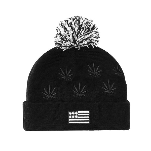 Beanie BUDZ N STRIPES Pom Pom - Purple Drank Shop - 1