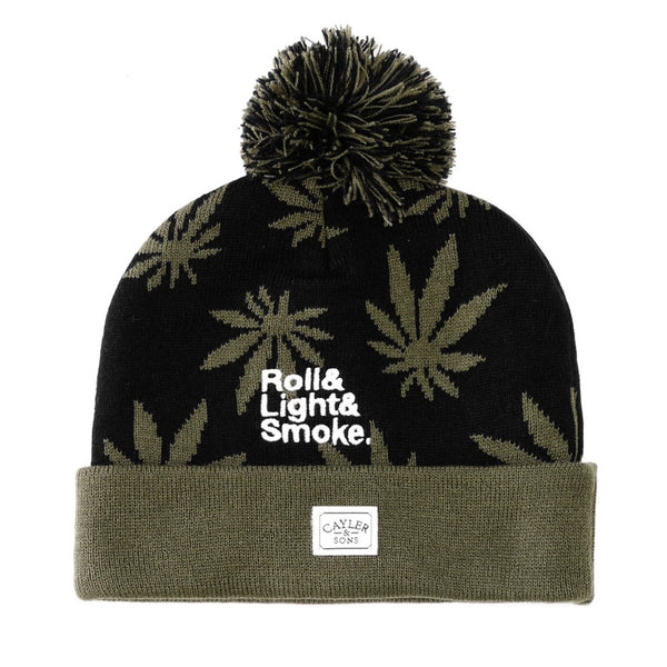 Beanie ROLL LIGHT SMOKE Pom Pom - Purple Drank Shop - 1