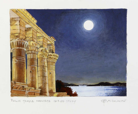Philae Temple Moon Rise- Study