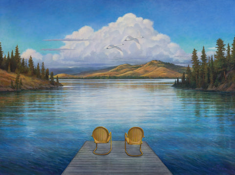 Summer on Flathead Lake Limited Edition Print