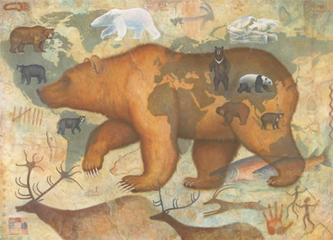 Bears of the World - Note card