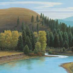 Big Blackfoot River Autumn on Cottonwood Creek