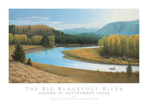 Big Blackfoot River Autumn on Cottonwood Creek - Signed