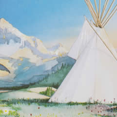 Blue Star Tipis - signed