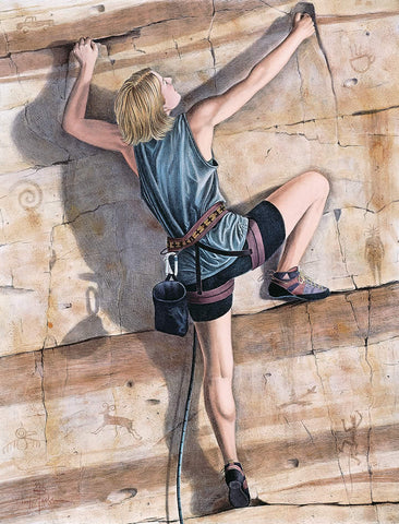 Climber - Hand Colored
