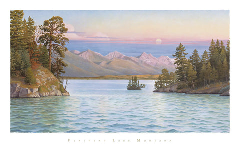 Flathead Lake - View Through The Narrows- signed