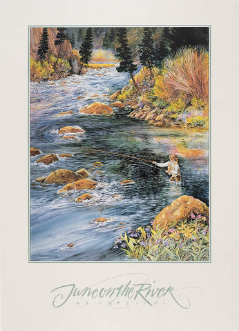June on the River - Signed