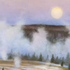 Moonrise on the Firehole