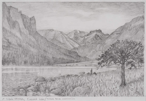 Morning on Emerald Lake - Study