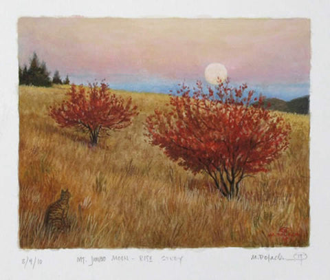 Mount Jumbo Moonrise - Study