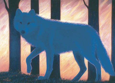 Blue Wolf - Note card