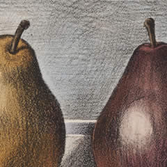 Three Pears - Hand Colored