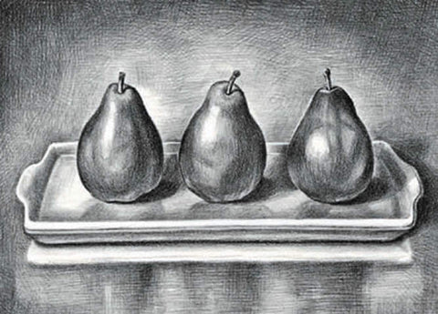 Three Pears - Black & White