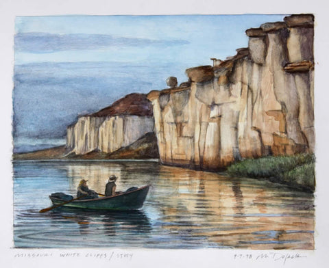 Missouri River White Cliffs - Study