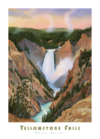 Yellowstone Falls - Poster - Signed