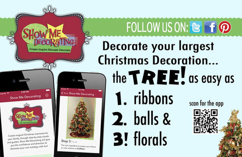 The Show Me Decorating App, download and decorate your Christmas tree like a designer!