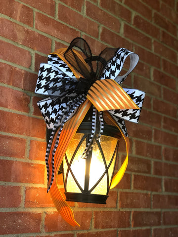 "Using 4"" Wired Designer Ribbon Creates a Statement Bow with a Few Loops and Tails"