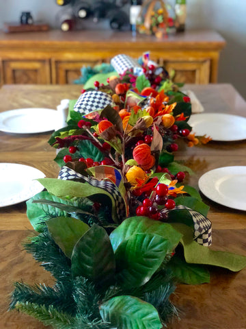 Fall Garland, Fall Dining Room Center Piece