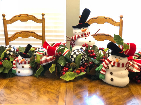 Christmas Garland Dining Table Center Piece