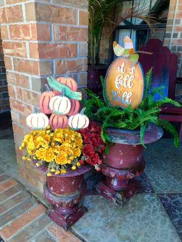 Fall Flower Pot Stakes