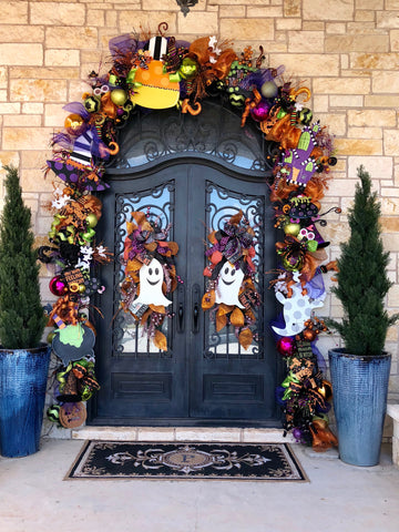 Fun Halloween Front Door Decor